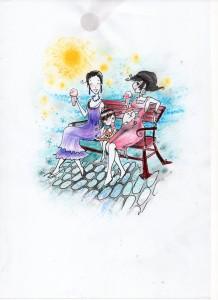 Eis essen mit Mama und Tante Mia