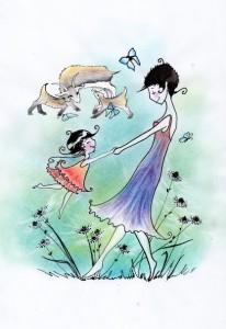 Marie mit ihrer Mutter