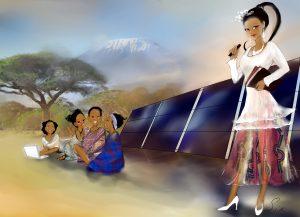 Lhona kämpft  Solar für Afrika