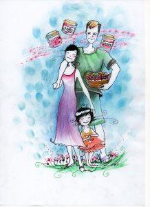 Ich liebe meine Eltern, Kirschen und Marmelade